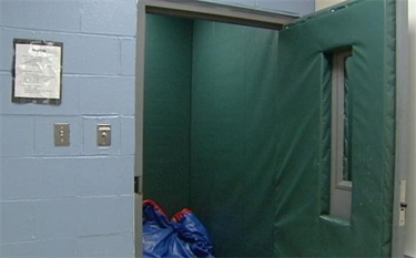 padded room used for seclusion