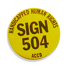 Handicapped Human Rights. Sign 504