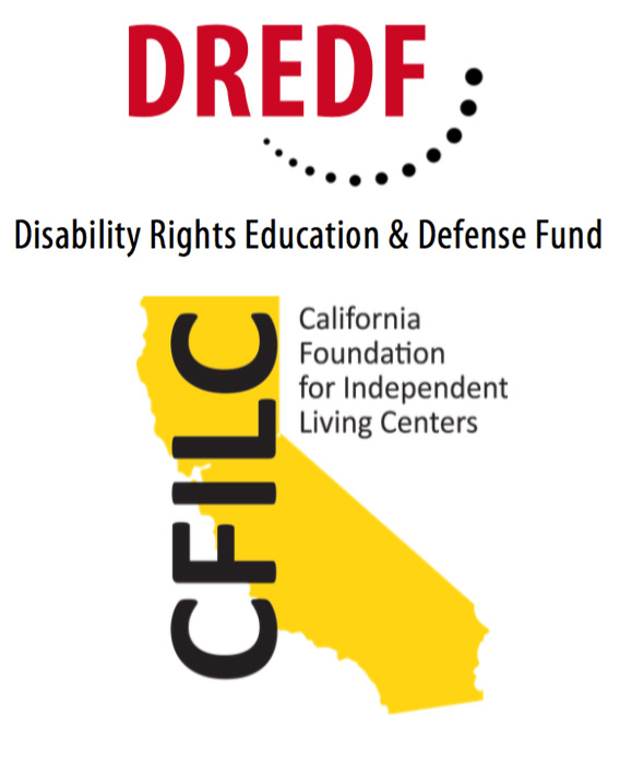 DREDF and CFILC combined logo