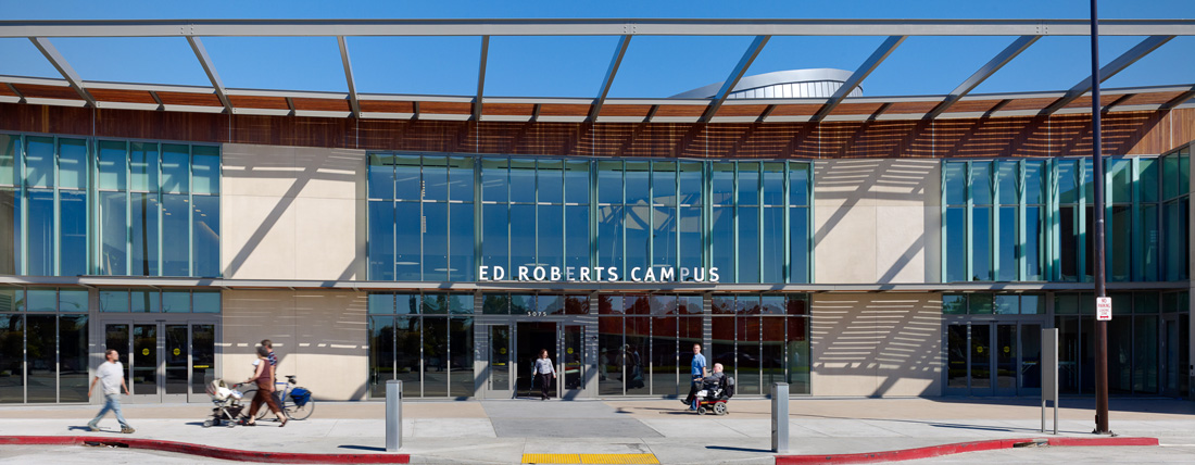 View of the main entrance to the Ed Roberts Campus