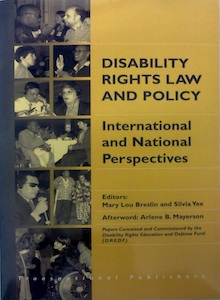 Disability Rights Law and Policy - Book Cover