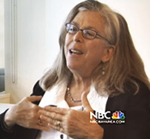 Screenshot from NBC interview with Arlene Mayerson