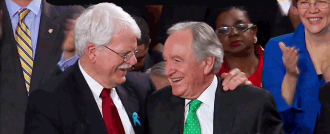 Tom Harkin and George Miller at State of the Union speech