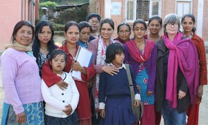 Susan Henderson with Nepalese women leaders in disability human rights advocacy