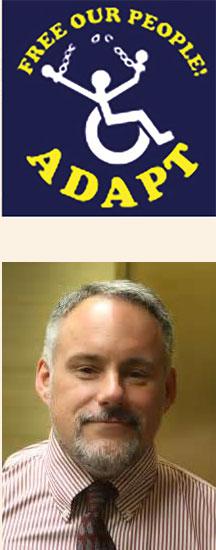 Adapt logo with portrait of Bruce Darling below it.