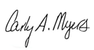 Signature of Carly A. Myers