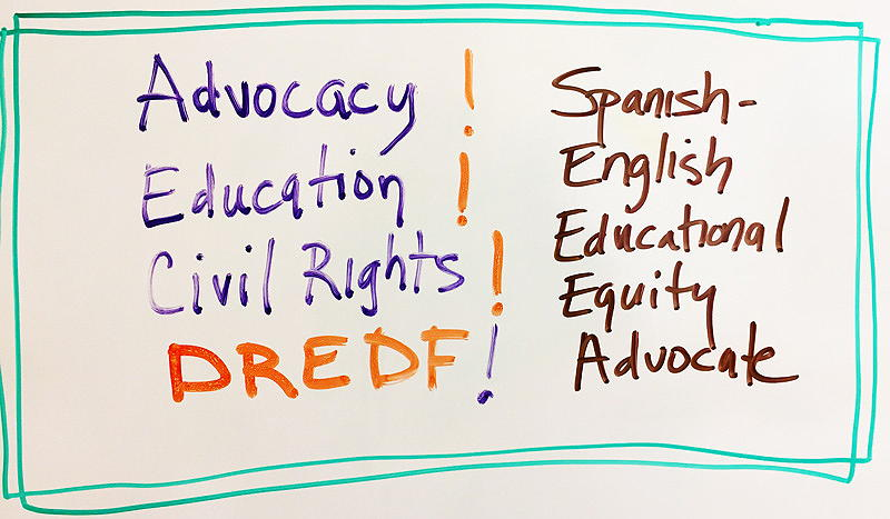 Advocacy! Education! Civil Rights! DREDF! Spanish-English Educational Equity Advocate